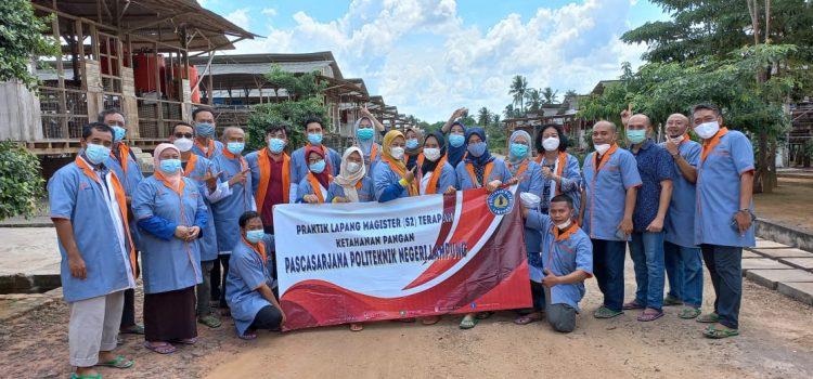 kegiatan praktik lapang S2 MTKP ke FArm sekuntum herbals Lampung Timur